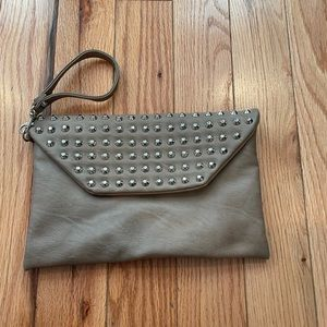 Taupe Studded Express Wristlet